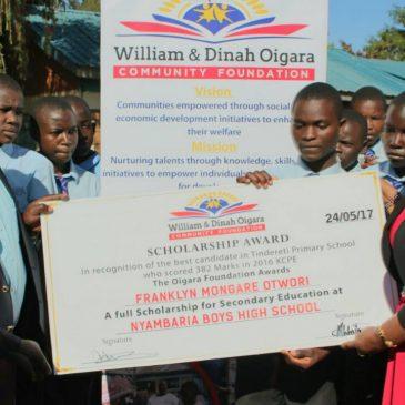 Frank Otwori settles down at Nyambaria Boys High School